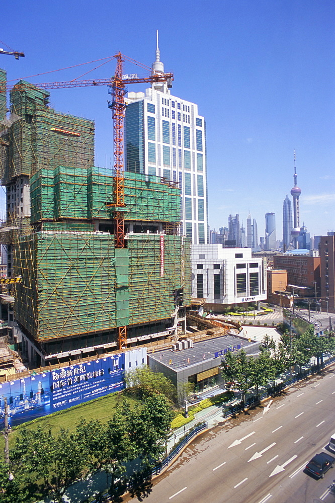 Building site, Shanghai, China, Asia