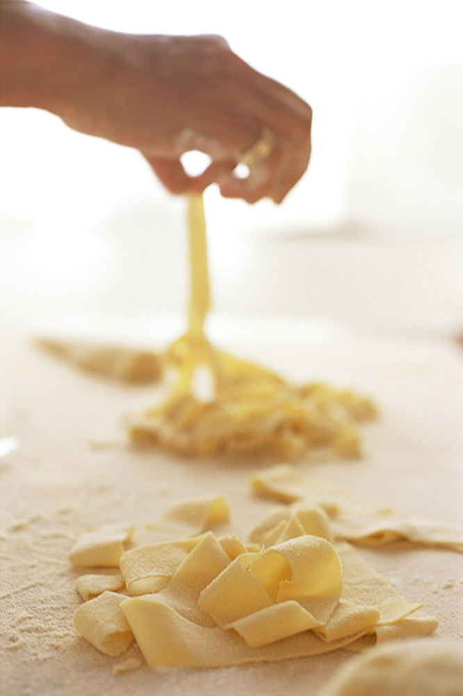 Making pasta, Arezzo, Tuscany, Italy, Europe
