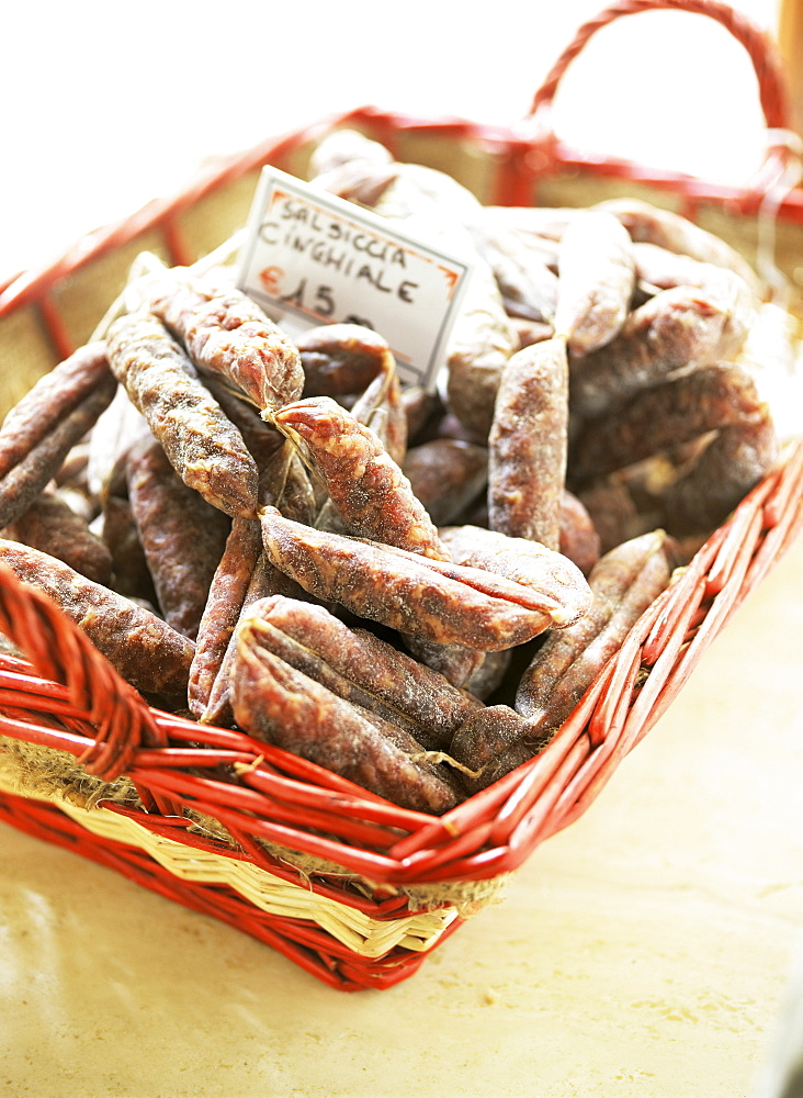 Salsiccia, meat sausage, Tuscany, Italy, Europe