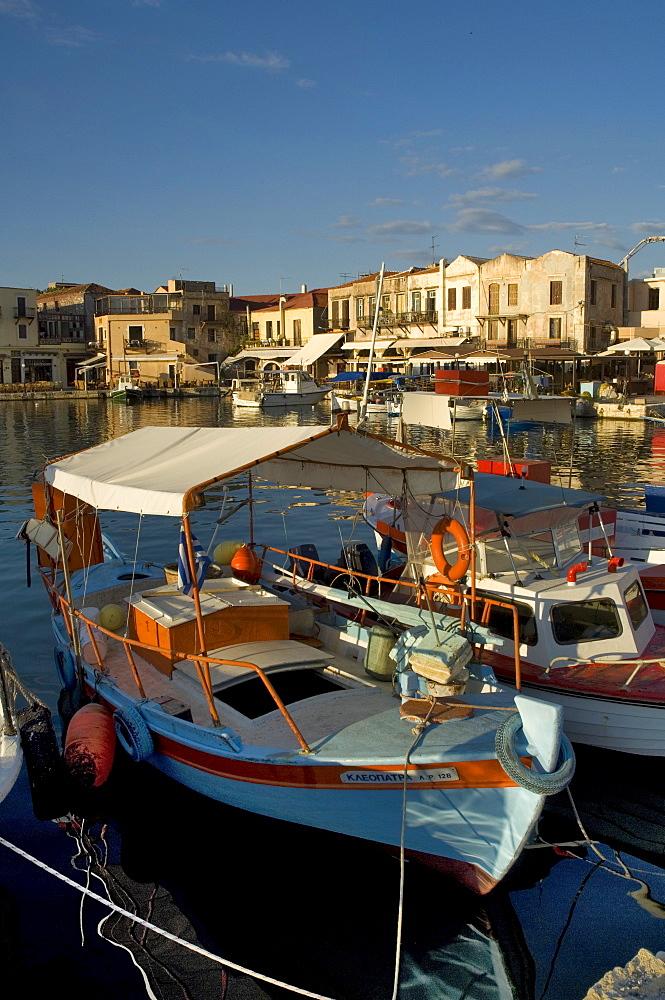 Fishing boats, Rethymnon, Crete, Greek Islands, Greece, Mediterranean, Europe