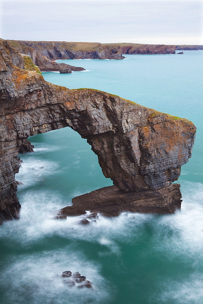 Green Bridge of Wales, Pembrokeshire, Wales, United Kingdom, Europe