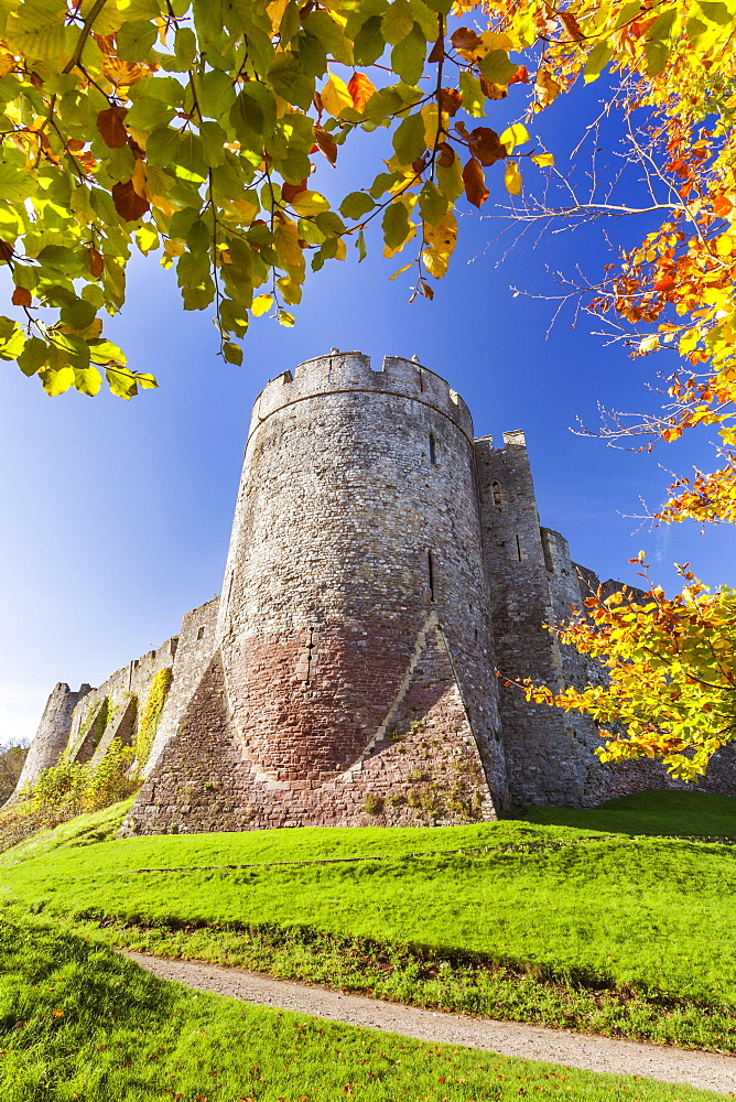 Chepstow Castle, Monmouthshire, Gwent, South Wales, United Kingdom, Europe - 696-868