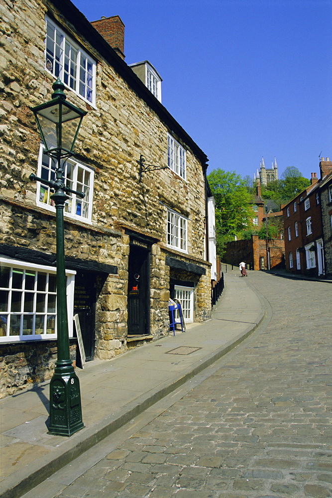 Jews Court, Steep Hill, Lincoln, Lincolnshire, England, UK, Europe