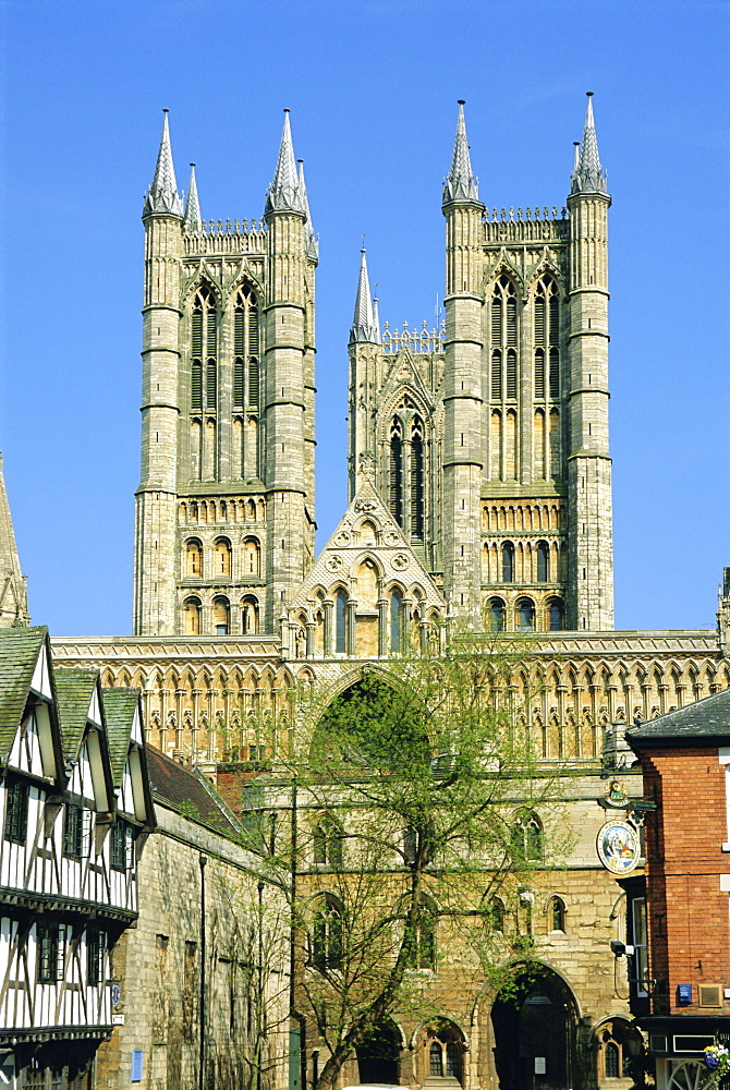 Lincoln Cathedral, Lincoln, Lincolnshire, England, UK, Europe