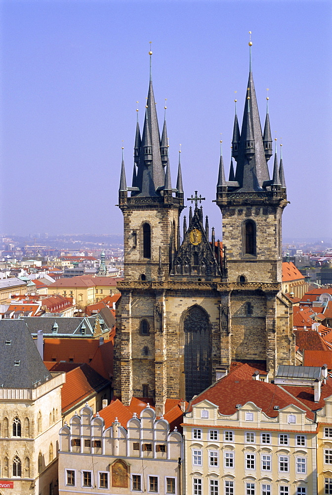 Church of Our Lady before Tyn, Old Town Square, Prague, Czech Republic, Europe