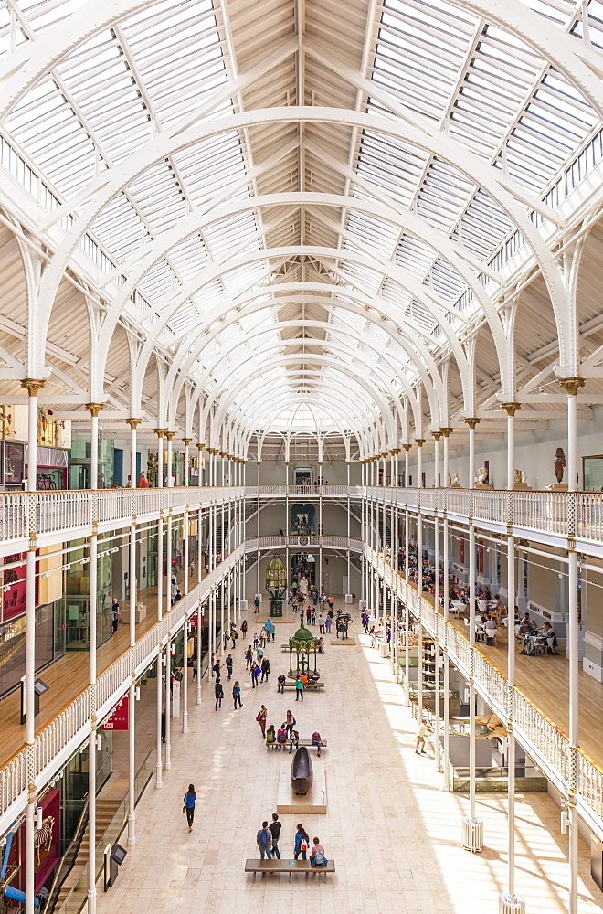 The Grand Gallery of the former Royal Museum, National Museum of Scotland, Edinburgh, Midlothian, Scotland, United Kingdom, Europe