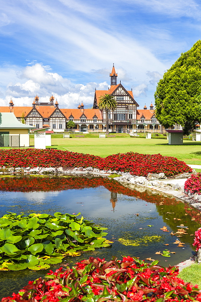 Tudor style Rotorua Museum and Government Gardens, Rotorua, North Island, New Zealand, Pacific - 698-3324