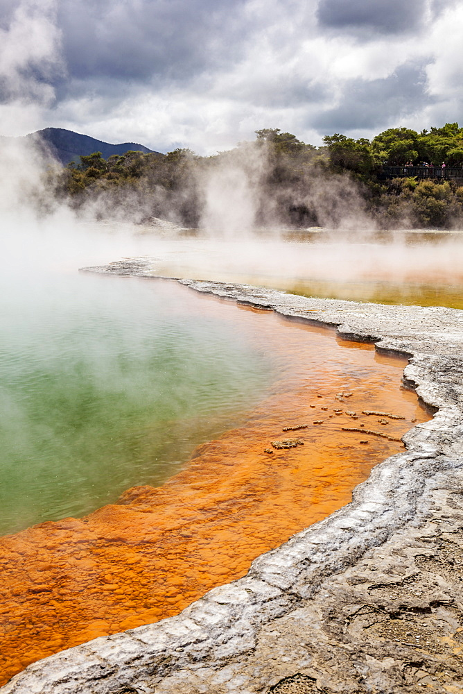 The Champagne pool, Wai-o-tapu Thermal Wonderland, geothermal area, Waiotapu, Rotorua, North Island, New Zealand, Pacific