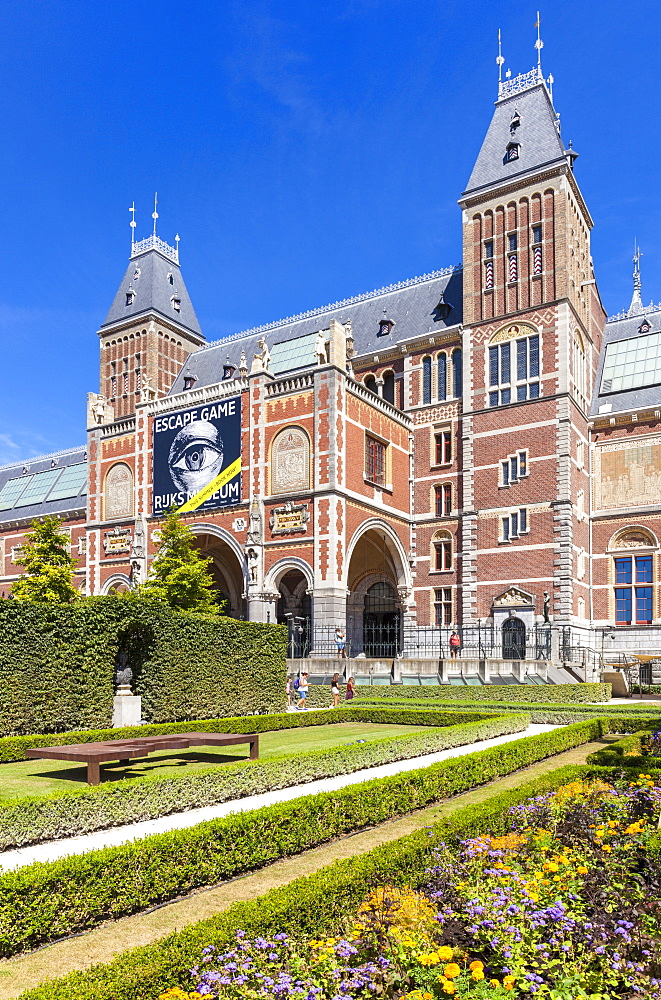 Gardens of the Rijksmuseum, Dutch Art gallery and museum, Amsterdam, North Holland, Netherlands, Europe - 698-3370