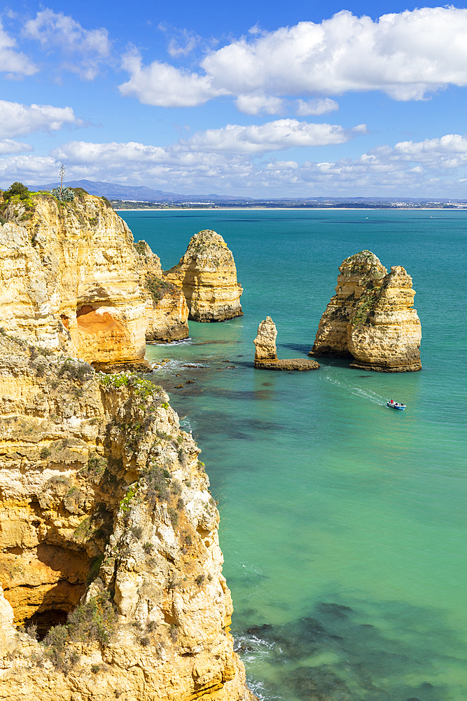 Ponta da Piedade rock formations, Lagos, Algarve, Portugal, Europe