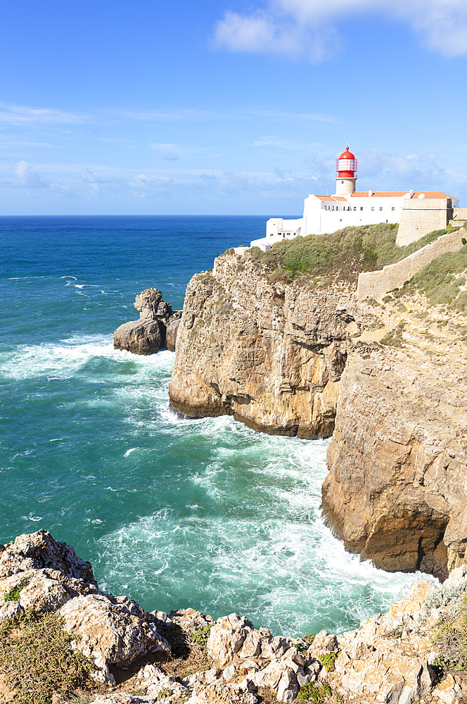 Cape St Vincent Lighthouse, West Algarve Coast Cape St Vincent, Sagres Portugal Algarve Portugal EU Europe