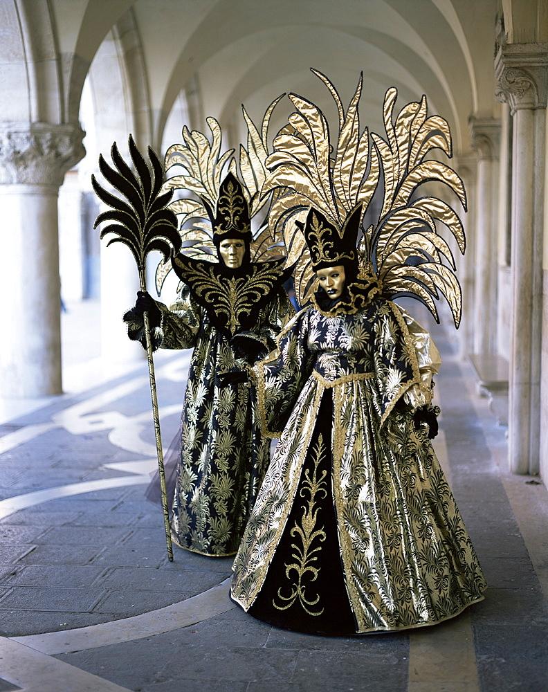 Carnival costumes, Venice, Veneto, Italy, Europe - 699-24
