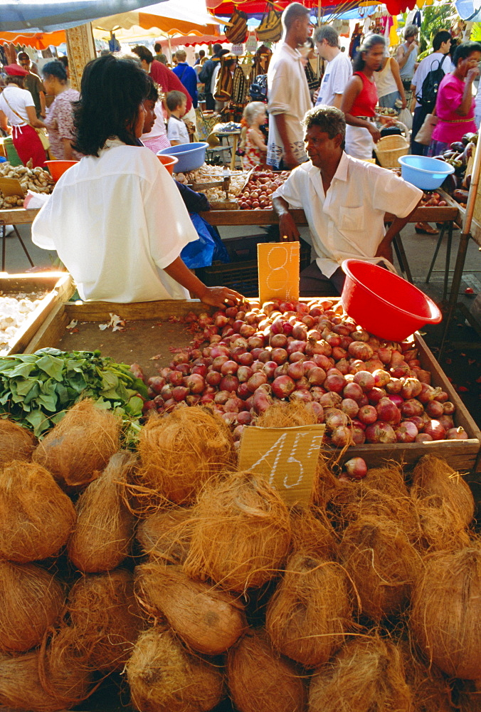 Market, St. Paul, Reunion Island, Indian Ocean