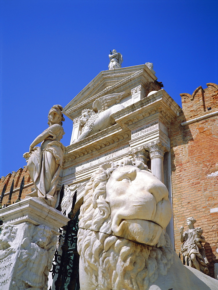 Arsenal Gate and Venetian Lion, Venice, Italy *** Local Caption ***