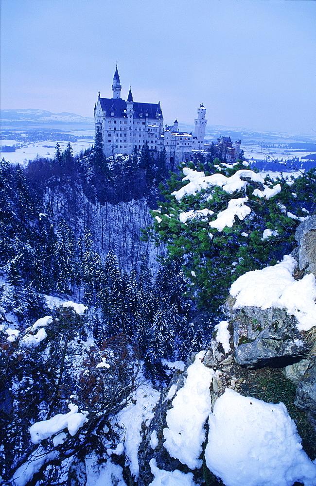 Neuschwanstein Castle in winter, Bavaria