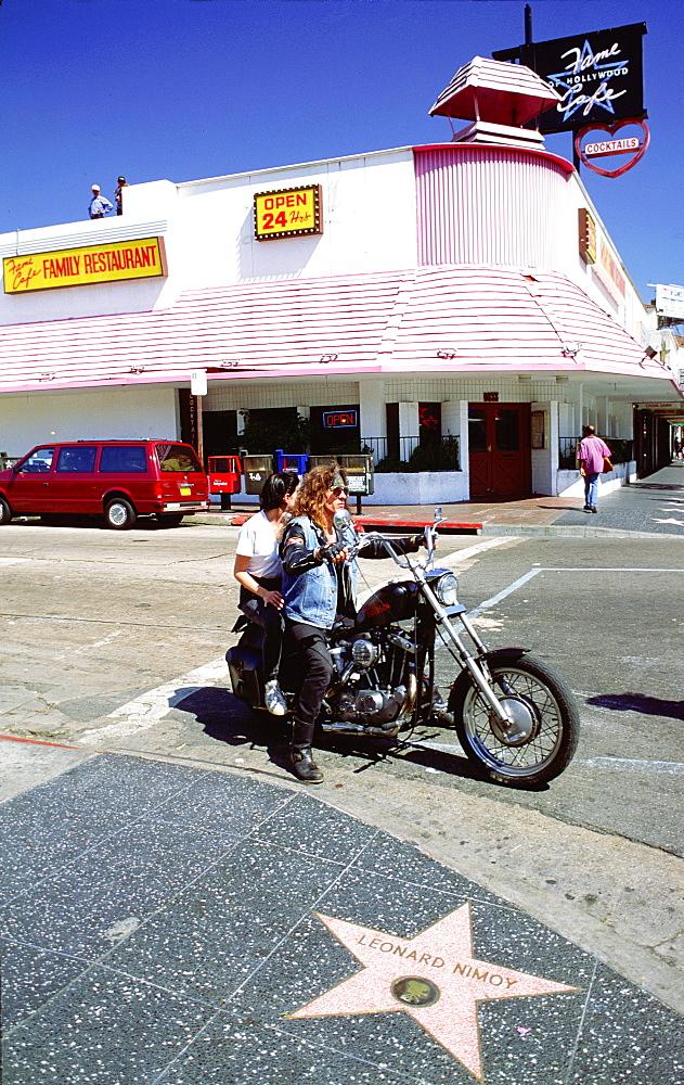 Bikers on Hollywood Boulevard, Los Angeles