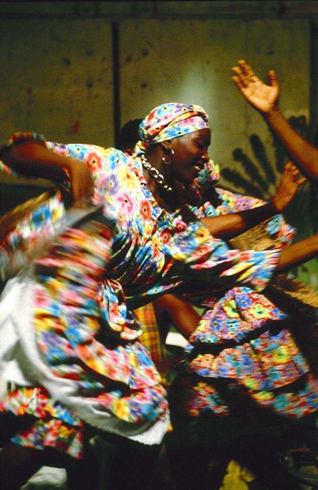 Women folk dancing, Martinique