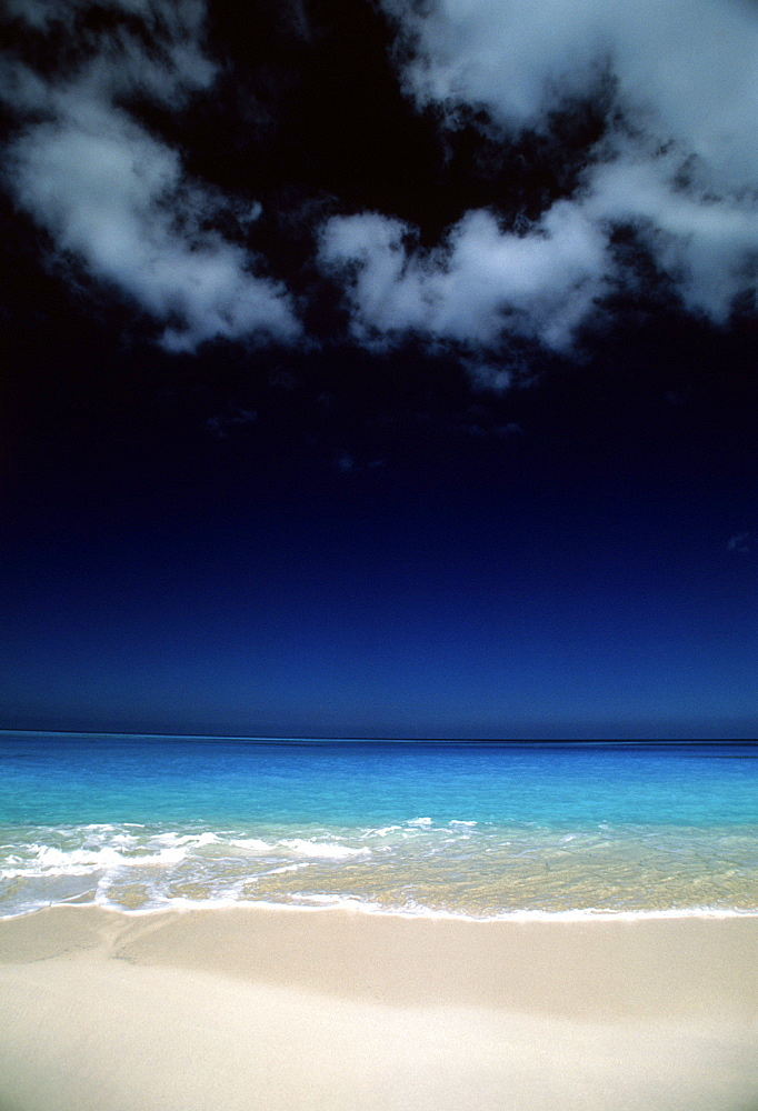 Tropical beach and seascape, Caribbean