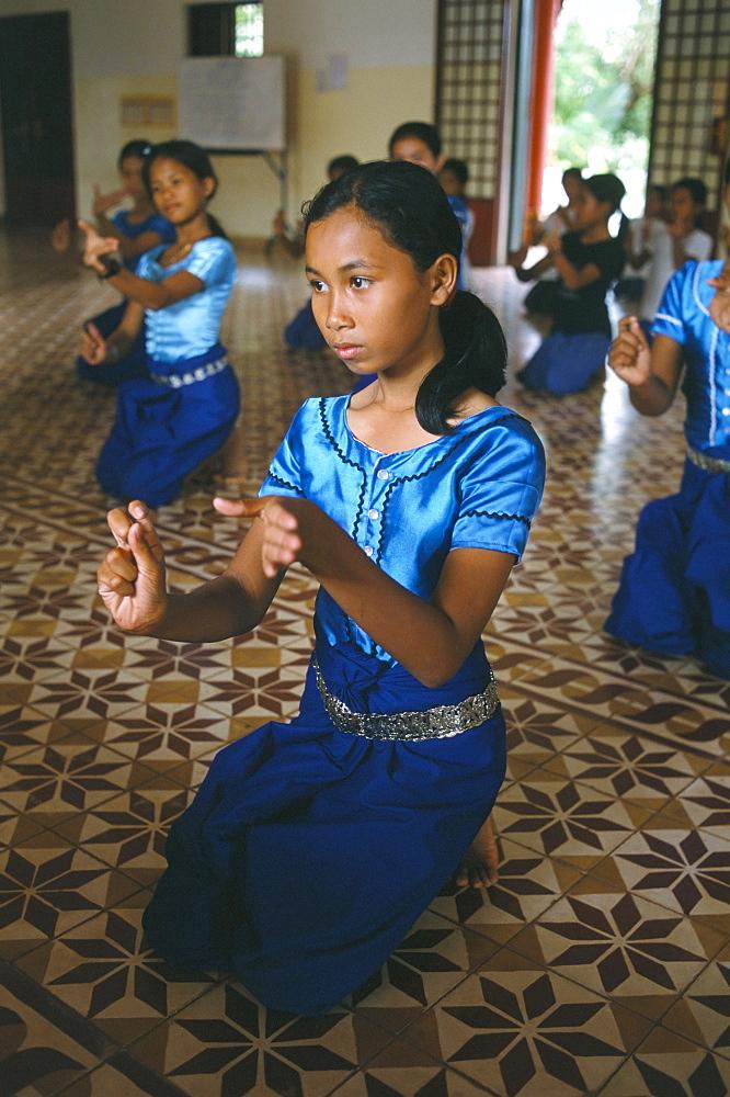 Apsara dance, Khmer dance school, Phnom Penh, Cambodia, Indochina, Southeast Asia, Asia