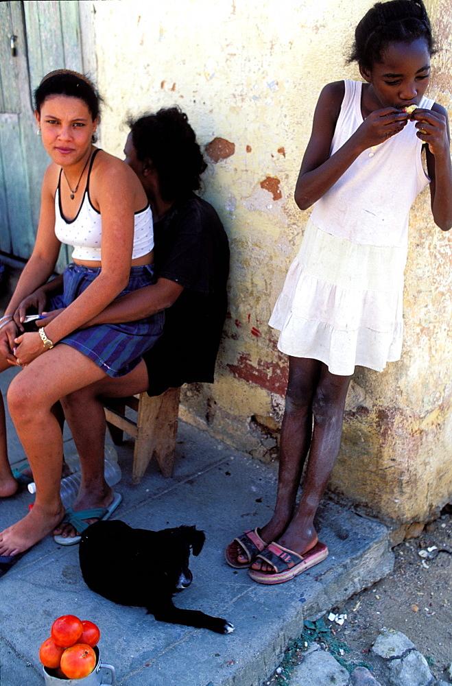 Tomato seller, UNESCO World Heritage, Trinidad, Region of Sancti Spiritus, Cuba, Central America