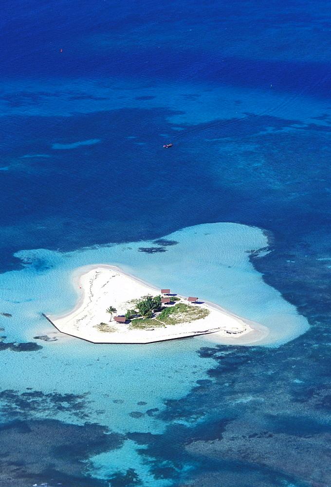 Aerial view, White island, Grand Cul de Sac Marin, Basse Terre, Guadeloupe, Caribbean, Central America