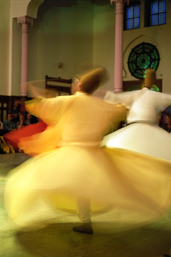 Whirling Dervishes, Sufis dancing, Istanbul, Turkey, Europe - 712-2173