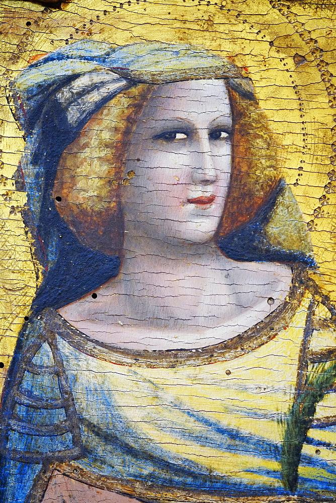 Detail of Polittico by Pseudo Jacopino, painted 1340, Pincoteca Nazionale Art Gallery, Bologna, Emilia-Romagna, Italy, Europe