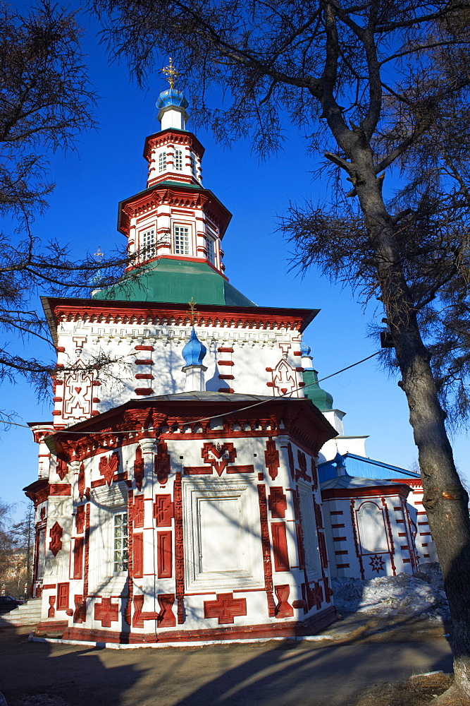 Holy Cross Church, Irkutsk, Siberia, Russia, Eurasia  - 712-2630