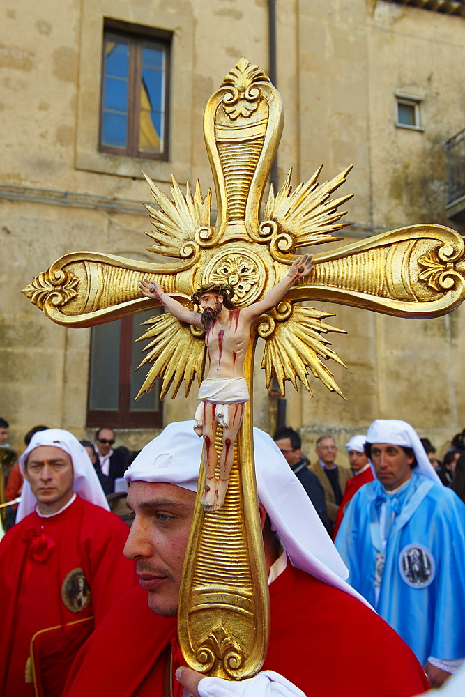 Procession on Good Friday, Enna, Sicily, Italy, Europe - 712-2694