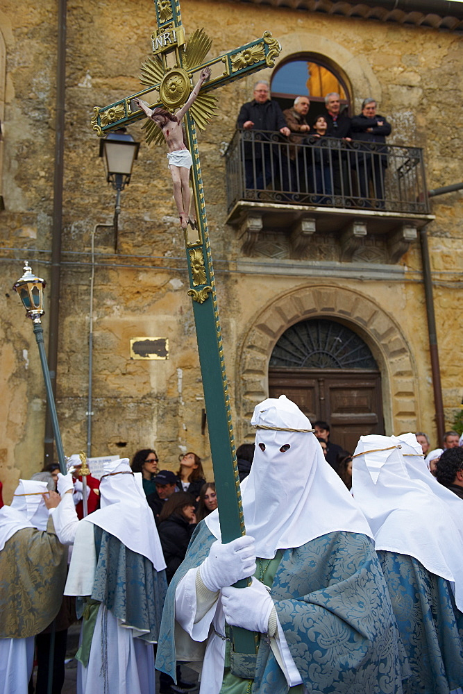 Procession on Good Friday, Enna, Sicily, Italy, Europe - 712-2696
