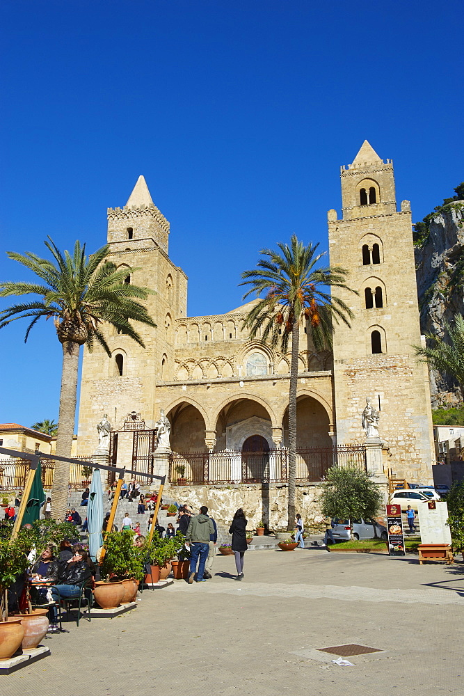 The Cathedral, Cefalu, Palermo  District, Sicily, Italy, Europe - 712-2707