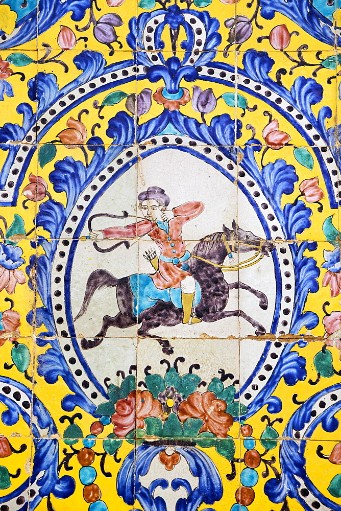 Tile decorations, Golestan Palace, UNESCO World Heritage Site, Tehran, Iran, Middle East