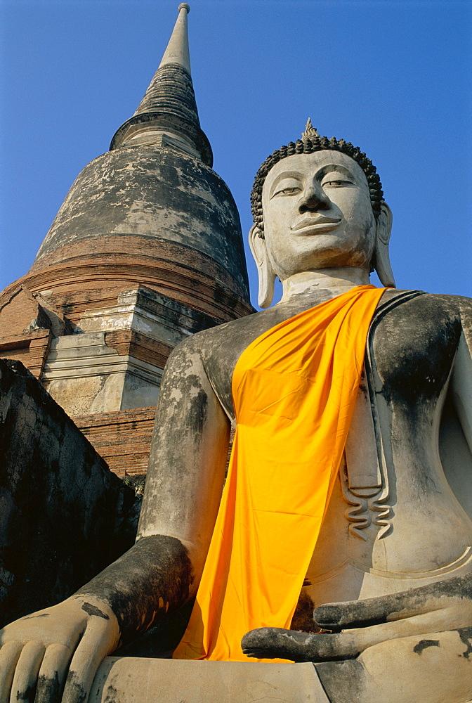 Wat Yai Chai Mongkon, Ayuthaya, Pce de Phra Nakhon Si Ayutthaya, Thailand *** Local Caption ***