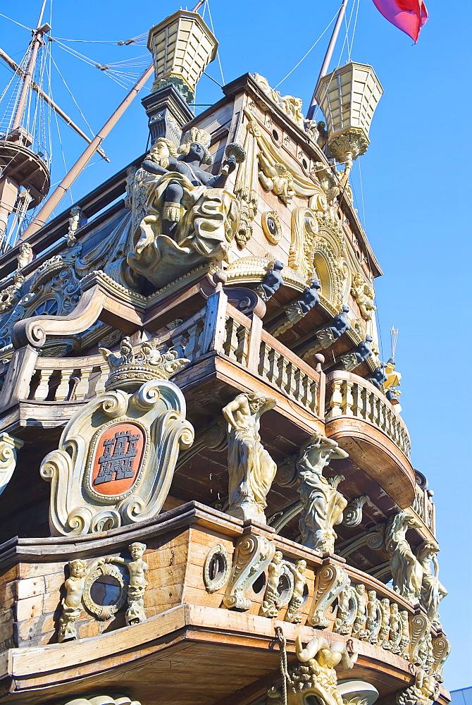 Pirate vessel, Genoa, Liguria, Italy, Europe