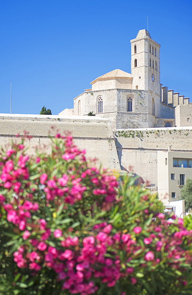 Ibiza Cathedral, Old Town (Dalt Vila), UNESCO World Heritage Site, Ibiza, Balearic Islands, Spain, Europe