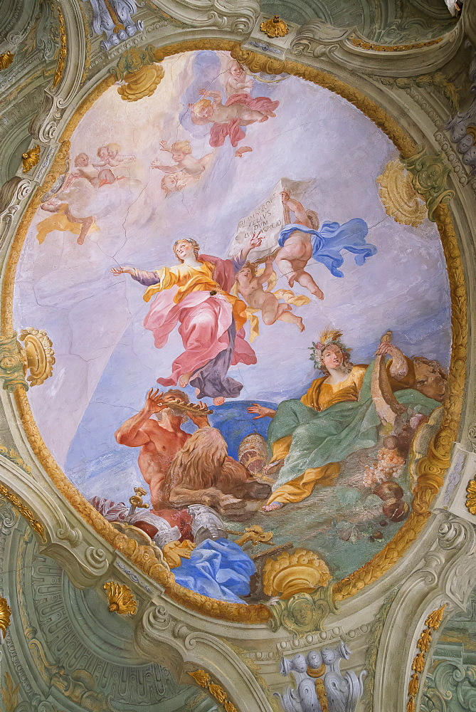 Palazzo Rosso frescoes, Genoa, Liguria, Italy, Europe, World Heritage Site - 718-2199