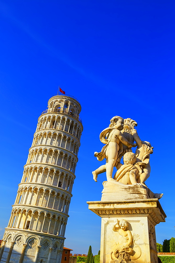 Leaning Tower, UNESCO World Heritage Site, Pisa, Tuscany, Italy, Europe - 718-2298