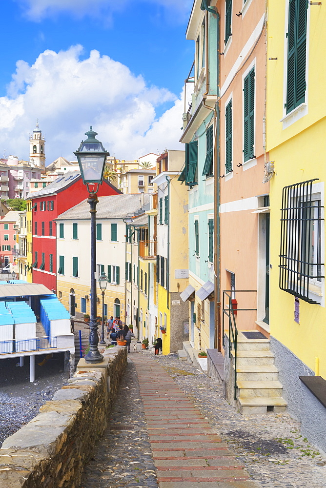 The picturesque village of Bogliasco, Bogliasco, Liguria, Italy, Europe - 718-2312