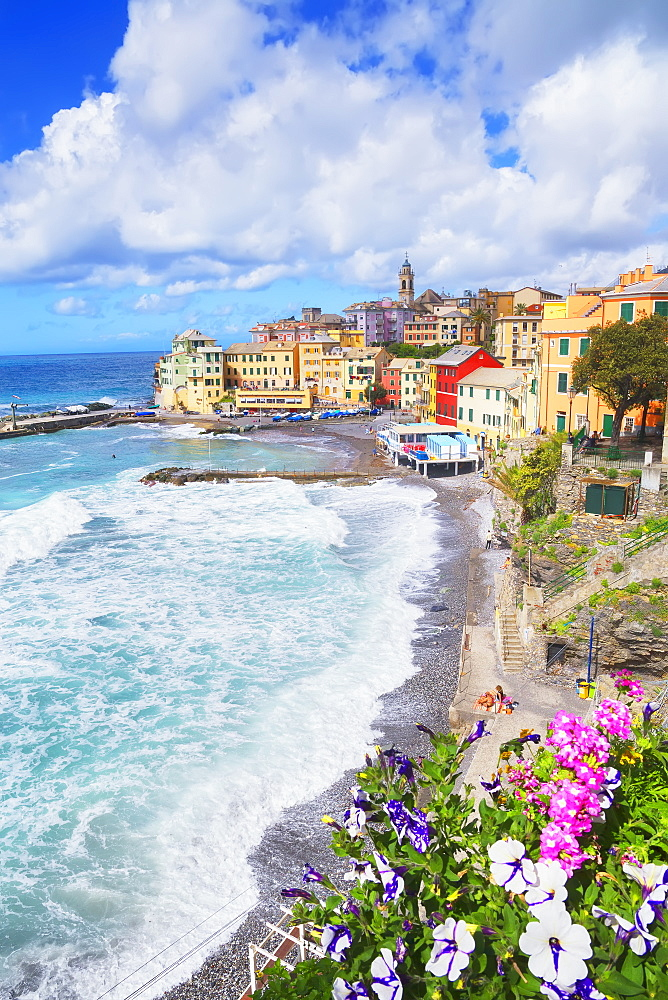 The picturesque village of Bogliasco, Bogliasco, Liguria, Italy, Europe - 718-2313