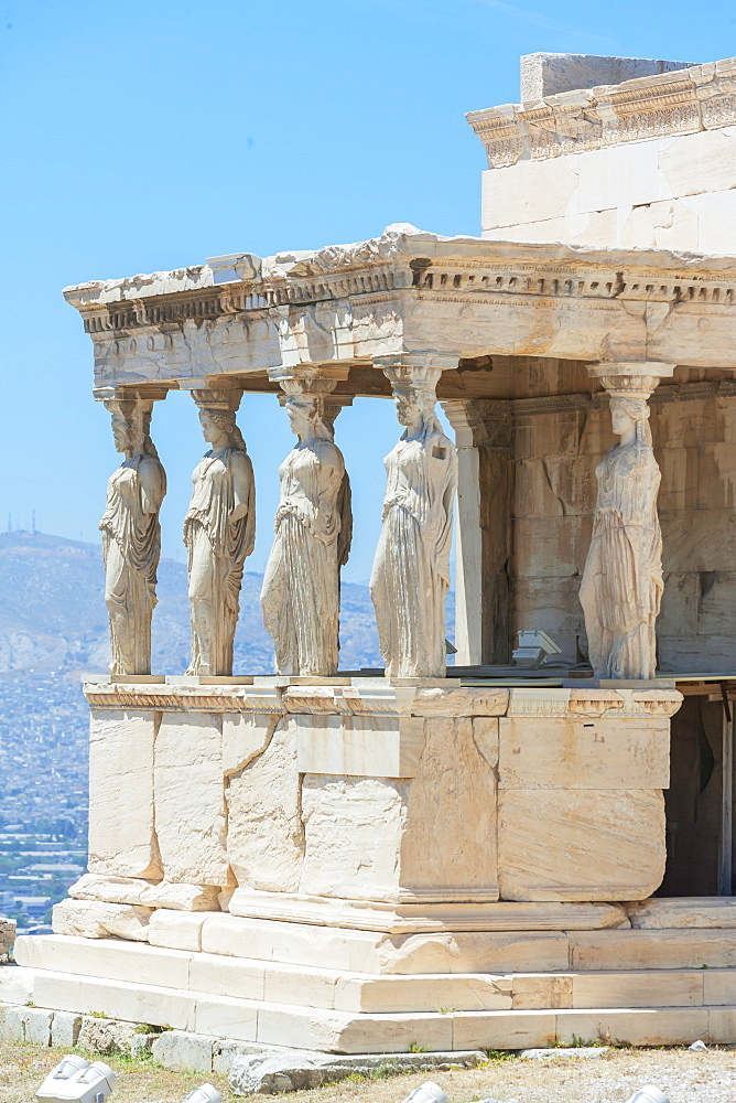Porch of Caryatids, Erechtheion Temple, Acropolis, UNESCO World Heritage Site, Athens, Greece, Europe