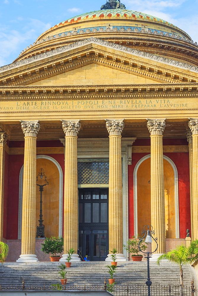 Teatro Massimo, Palermo, Sicily, Italy, Europe