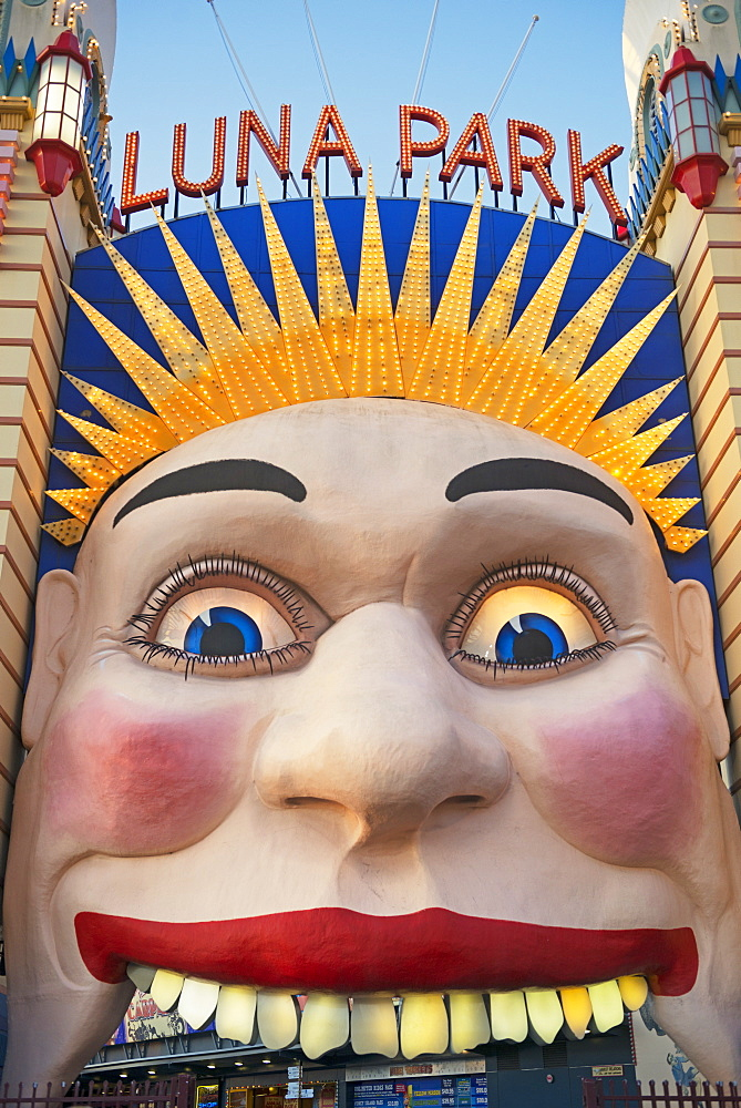 Luna Park entrance, Sydney, New South Wales, Australia, Pacific