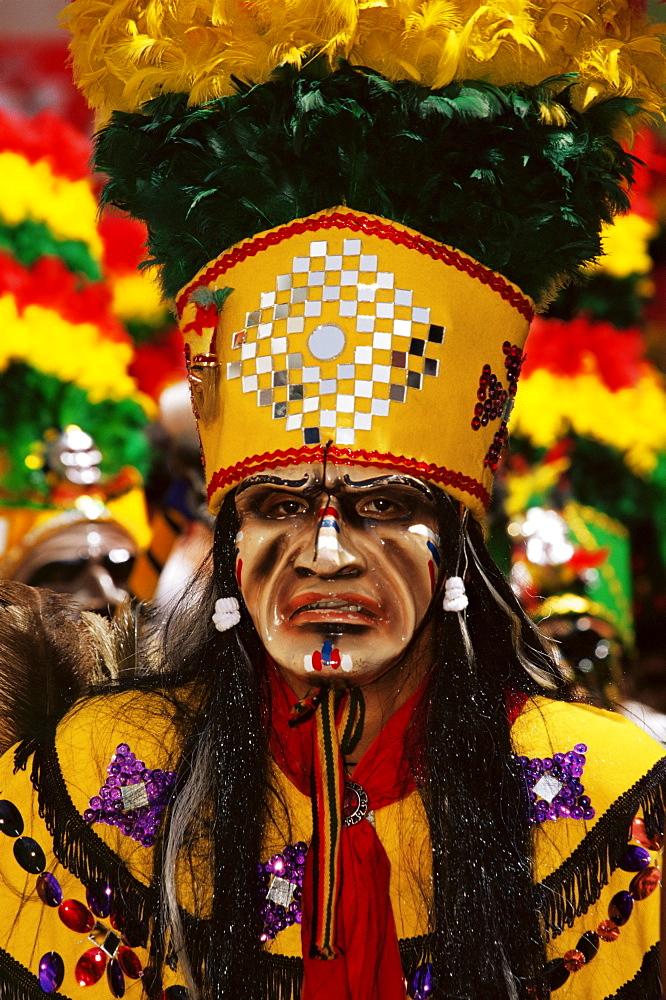 Stock travel photo: Diablada festival Tobas Warrior