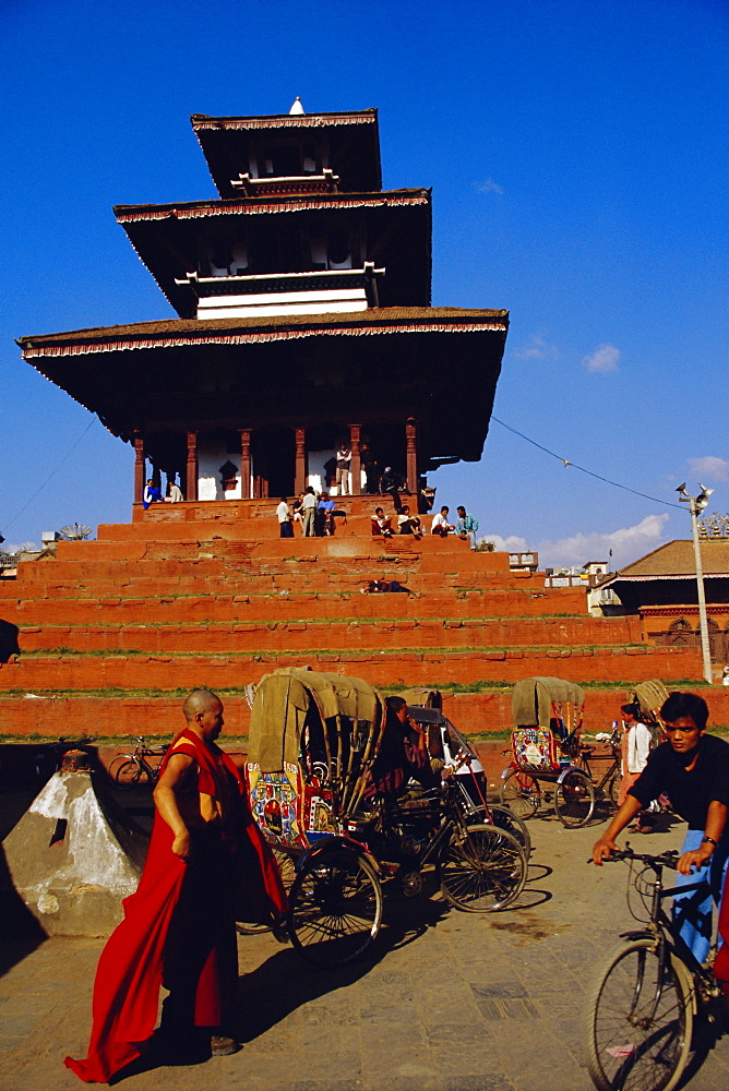 Maju Deval temple at Durbar Square, Katmandu, Nepal