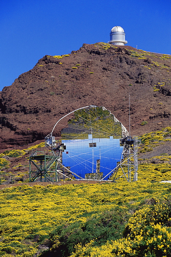 Astrophysic observatory, the most important in Europe, situated near Roque de los Muchachos, La Palma, Canary Islands, Spain, Europe