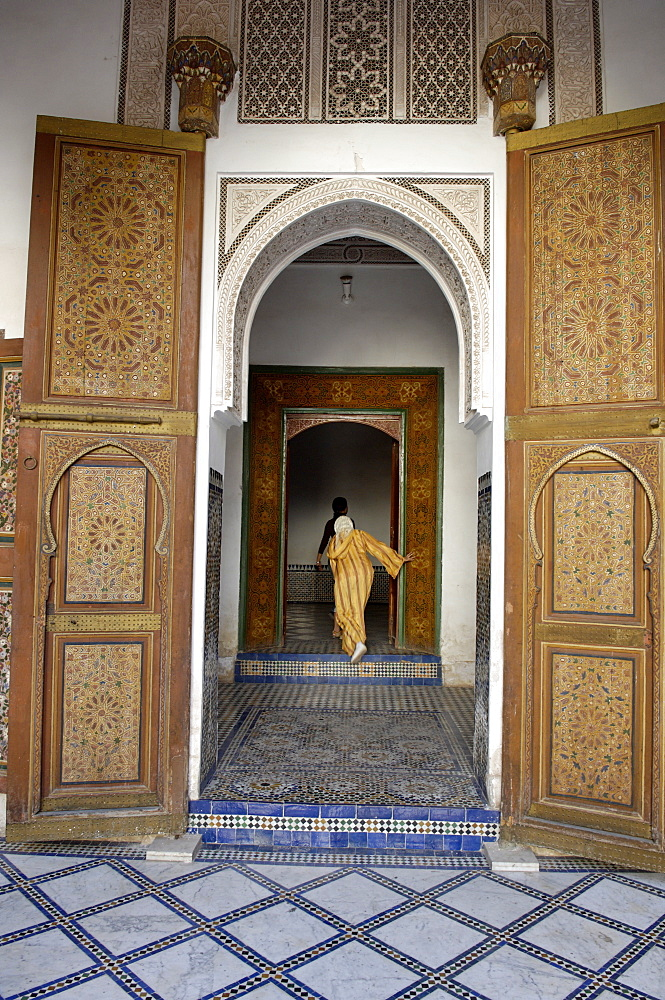 La Bahia Palace constructed towards the end of the 19th century by the architect El Haj Mohammed el Mekki under the instructions of Ba Ahmed, Medina, Marrakesh, Morocco, North Africa, Africa
