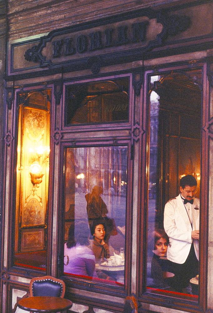 Cafe Florian, St. Mark's Square, Venice, Veneto, Italy, Europe (Grainy Effect) - 724-181