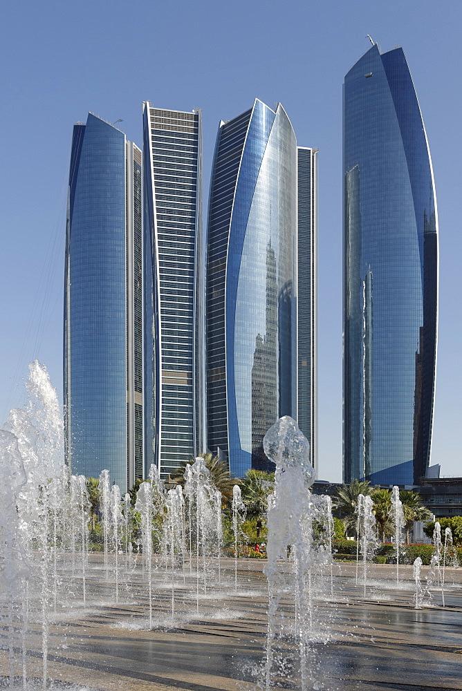 Etihad Towers, Abu Dhabi, United Arab Emirates, Middle East - 724-2512