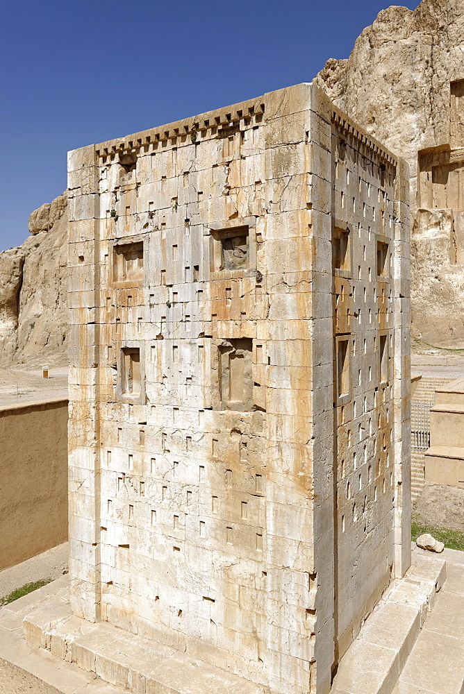 Ka'ba-ye Zartosht, a stone quadrangular tower, Naqsh-e Rostam necropolis, Persepolis area, Iran, Middle East - 724-2533