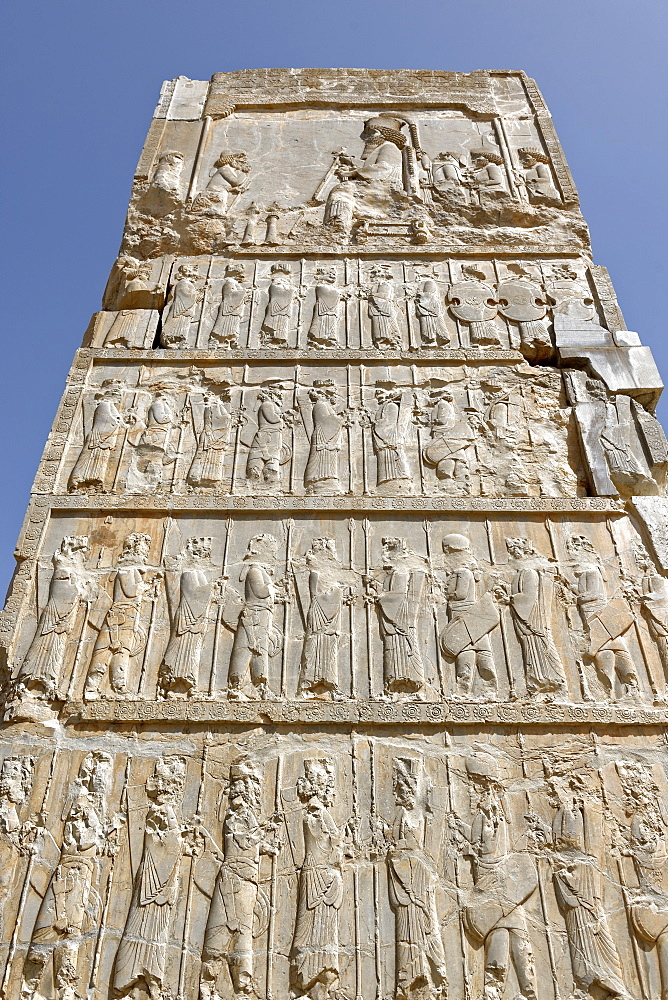 Guard of immortals, Palace of the Hundred Columns, Persepolis, Iran, Middle East